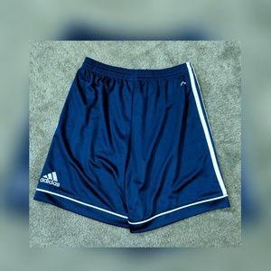 Adidas men's blue athletic shorts